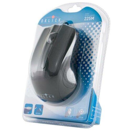 Мышь OKLICK 225M черный оптическая (1200dpi) USB