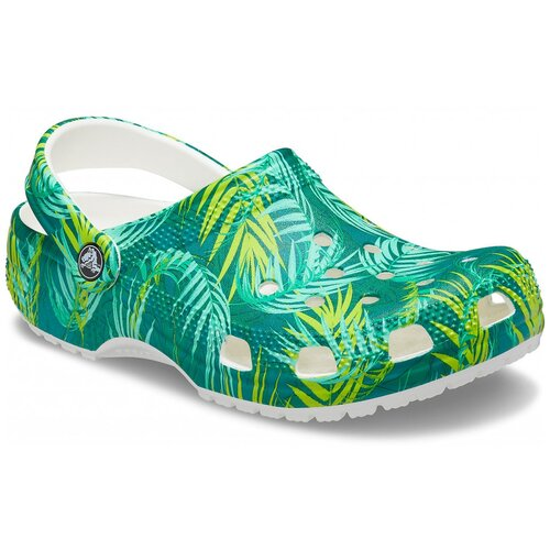 Сабо Crocs Classic Tropical Clog, размер 39-40(M7/W9), white/multi crocs citilane tropical slip on m