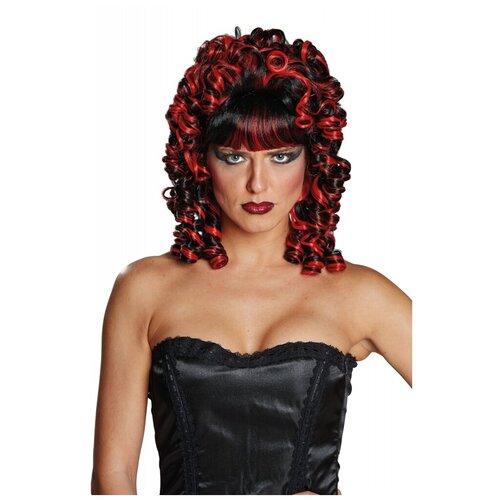 Купить Кудрявый черно-красный парик (10012), RUBIE'S