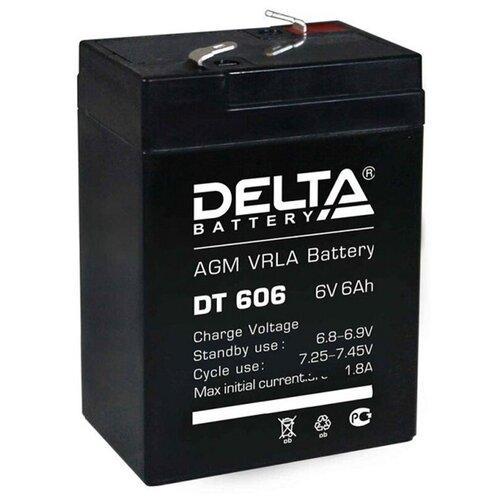 Аккумулятор для ИБП Delta DT-606 6V 6Ah аккумулятор для ибп delta dt 4045 47 4v 4 5ah