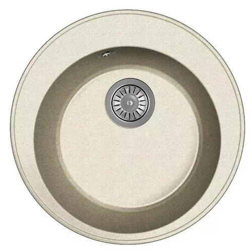 Мойка для кухни Dr. Gans Smart, Пион-480, серый, камень, врезная, круглая (46435)