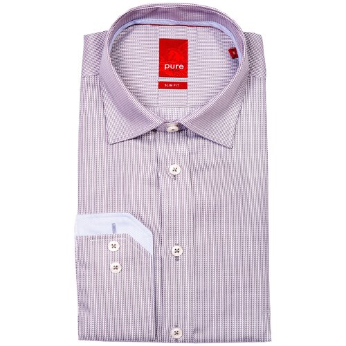 Рубашка pure размер XL серый/белый