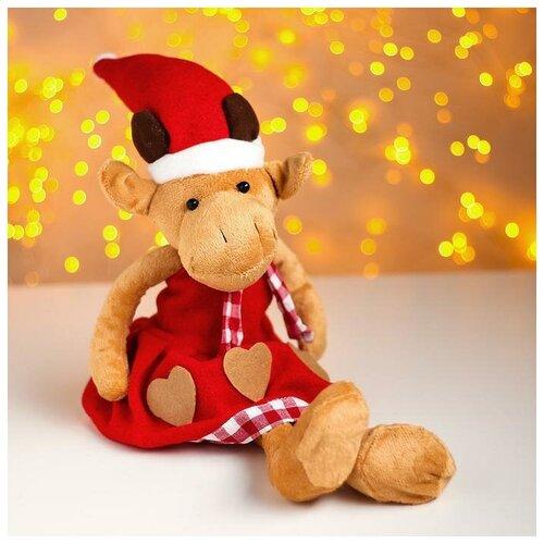 Мягкая игрушка Бык в красном колпаке softoy ut 1301 игрушка мягкая бык 45 см
