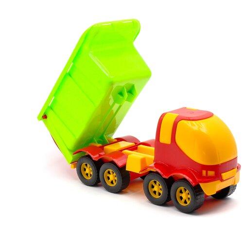 Мусоровоз игрушка большой красный 41 см MAXIMUS Панда / мусоровоз машинка / машинки игрушки для малышей / машина каталка для мальчиков / машинка детская каталка / машинка игрушка каталка / машинка детская игрушка