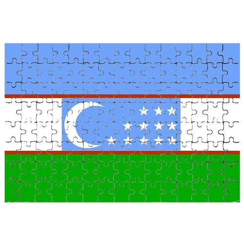 Магнитный пазл Флаг Узбекистана