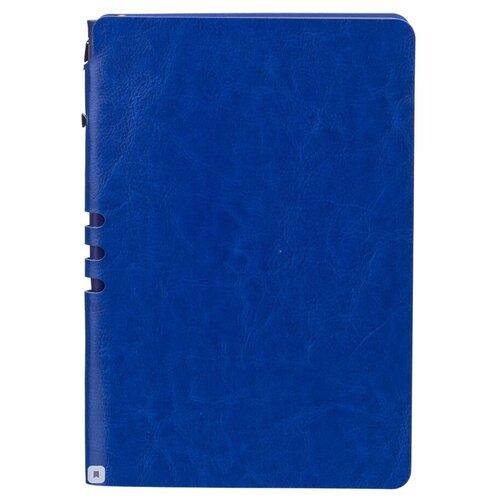 Бизнес-тетрадь Attache Light Book А5, 112 листов, линия, цветной срез, кожзам, ярко-синий