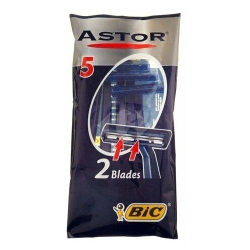 Бик Астор / Bic Astor - Одноразовые станки для бритья для нормальной кожи 5 шт