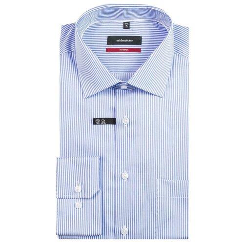 Рубашка Seidensticker размер 40 белый/голубой