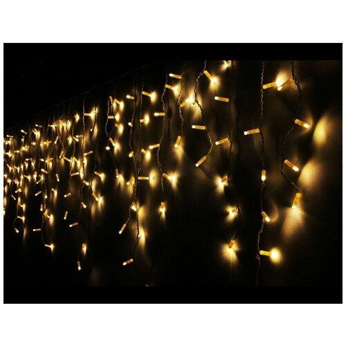 Фото - Светодиодная гирлянда бахрома, 208 тёплых белых LED-огней, 4х0.8+1.5 м, уличная, SNOWHOUSE светодиодная уличная гирлянда бахрома neon night синего свечения 2 4х0 6 м 76 led