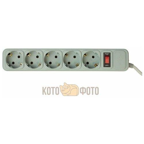 Сетевой фильтр PC Pet AP01006-E-GR (UPS) 1.8м (5 розеток) серый