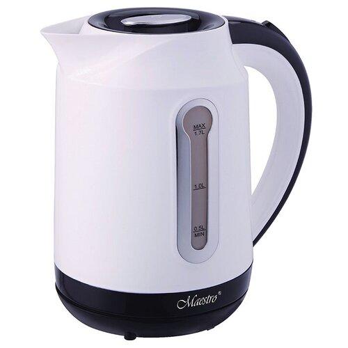 Электрический чайник Maestro, MR-041, белый, красный чайник электрический maestro mr 034 1 7л диск синий