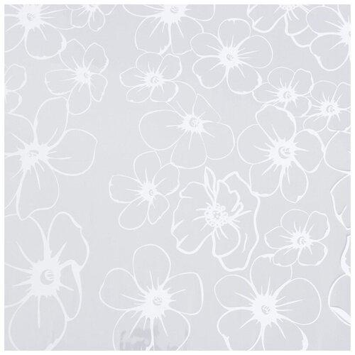 Бумага упаковочная Комус пленка, белые лепестки, 0,7х7,5 м, 200 г, 40 мкм