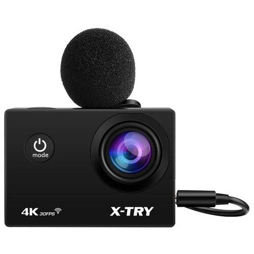 Фото - Экшн-камера X-TRY XTC183 EMR + СЗУ 4K WiFi экшн камера r wings air 4k wifi rwc001