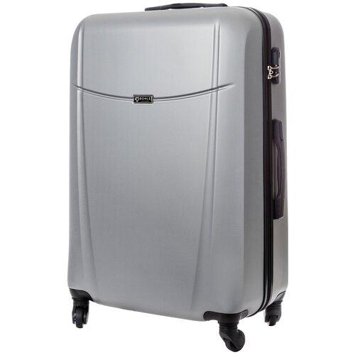 чемодан bonle премиум abs пластик салатовый размер s 55 см 37 л Чемодан Bonle, премиум ABS-пластик, Серебристый, размер L, 75,5 см, 91 л