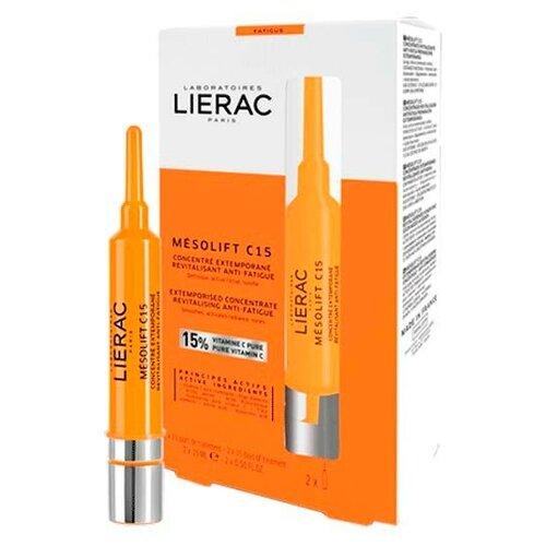 Купить Концентрат-корректор LIERAC Мезолифт C15 Ревитализирующий признаков усталости 2*15 мл