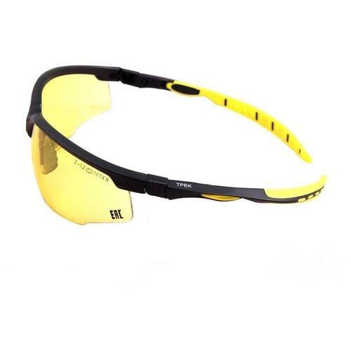 Очки защитные открытые РОСОМЗ O52 Трек NordGlass, желтые (15257)