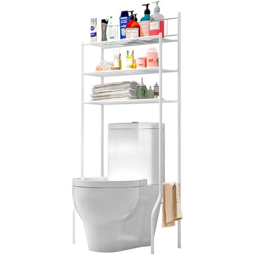 Полка стеллаж напольная 3-х ярусная UniStor Albion для ванной и туалета