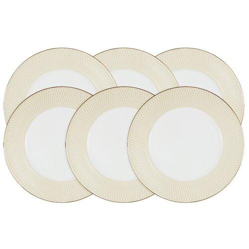 Набор десертных тарелок Narumi Бриз Голд, 21 см, 6 штук (N96732-54692)