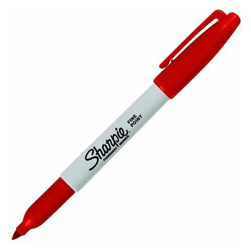 Купить Маркер перманентный красный SHARPIE Fine , круглый наконечник, 1 мм, S0810940, 6 шт., Маркеры