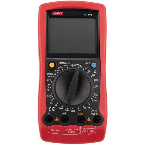 Мультиметр цифровой UNI-T UT105 автомобильный красный