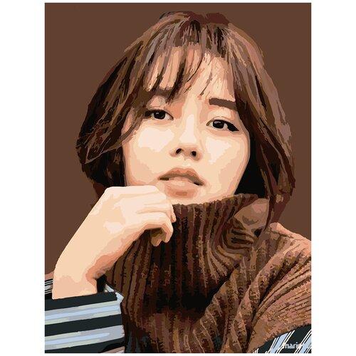 Купить Картина по номерам Ким Со Хён, 60 х 70 см, Красиво Красим, Картины по номерам и контурам