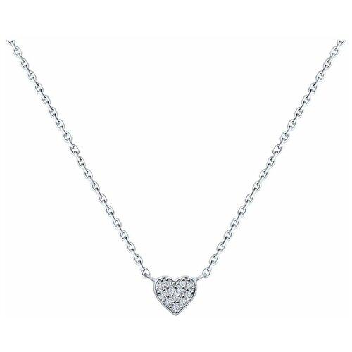 SOKOLOV Колье из серебра с фианитами 94070167, 45 см, 2.84 г