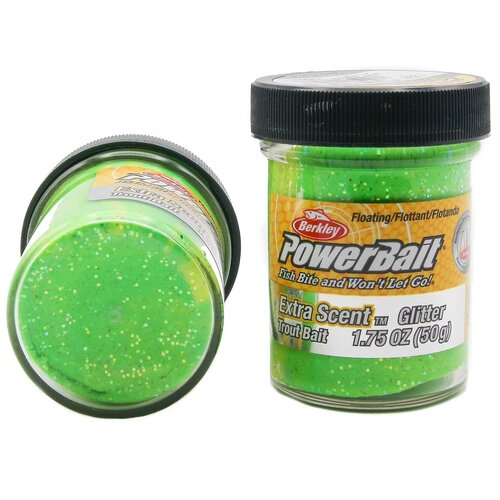 Форелевая паста Berkley - ESTBG-FGY (1004931) Extra Scent Glitter цвет флуоресцентный зелёный/жёлтый