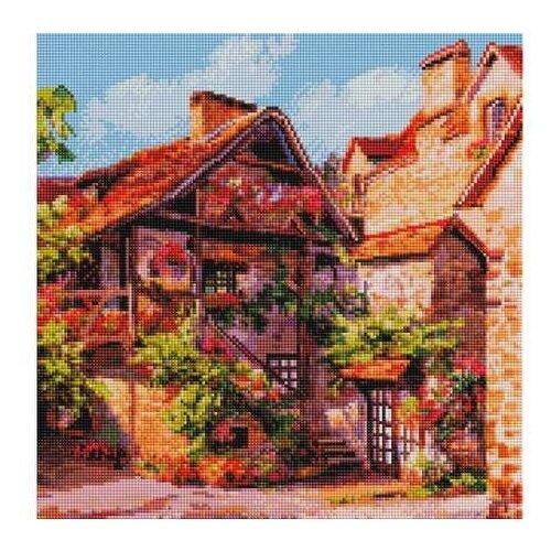 Купить Алмазная мозаика Франция. Кареннак (на подрамнике), картина стразами Белоснежка 40x40 см., Алмазная вышивка