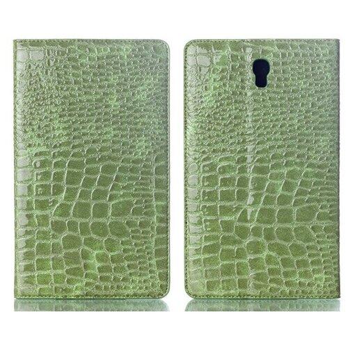 Чехол-футляр MyPads для планшета Samsung Galaxy Tab S 8.4 SM-T700/T705 из лаковой рельефной кожи под крокодила цвет травянистый зеленый