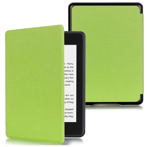 Чехол-обложка MyPads для Amazon Kindle PaperWhite 2018 из качественной эко-кожи с функцией включения-выключения и возможностью быстрого снятия зеленый