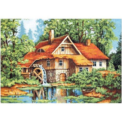 Фото - Luca-S Набор для вышивания Мельница в лесу, 53 x 36 см, B480 bu4022 набор для вышивания хижина в лесу 43 5 40см luca s