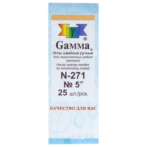 Купить Набор игл ручных Gamma N-271, серебристый, N5, 25 шт., Иглы