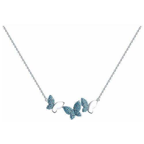 Diamant Колье из серебра с ситалами синтетическими 94-170-00596-1, 40 см, 5.82 г