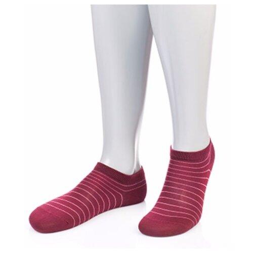 Носки женские Grinston 15D34 короткие из микромодала, Бордовый, 25 (размер обуви 38-41)