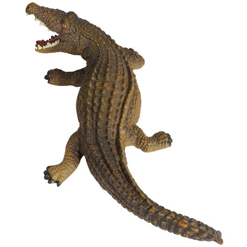 Купить Игрушка для детей Крокодил ТМ КОМПАНИЯ ДРУЗЕЙ , серия Животные планеты Земля . игрушечное животное, дикий игрушечный зверь, эластичная поверхность с шероховатостями, эластичный пластик, 46.0X17.0X8.0 см, Компания Друзей, Игровые наборы и фигурки