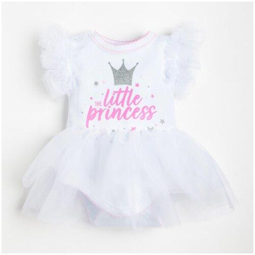 Фото - Платье-боди Крошка Я Little Princess размер 74-80, белый боди little fox размер 74 белый