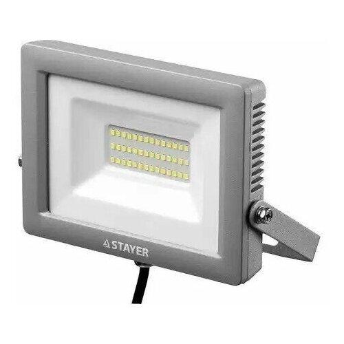 STAYER Светодиодный прожектор STAYER LED-Max 30Вт 2400 Лм 6500 К IP65 57131-30