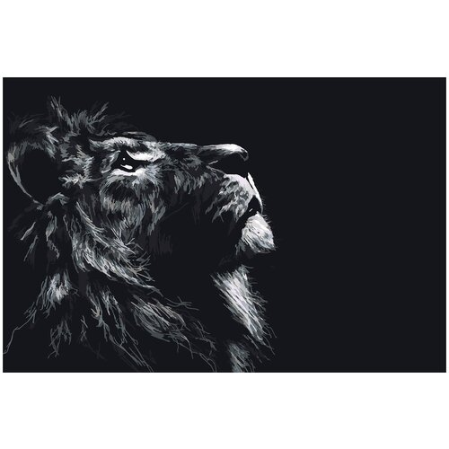 Купить Картина по номерам Лев, 80 х 120 см, Красиво Красим, Картины по номерам и контурам