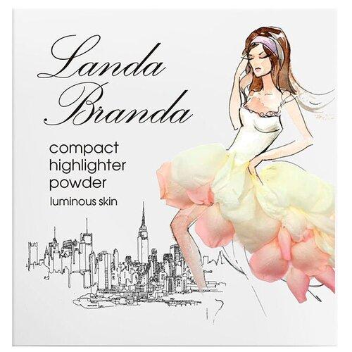 Landa Branda Пудра-хайлайтер Сияющая кожа snow white
