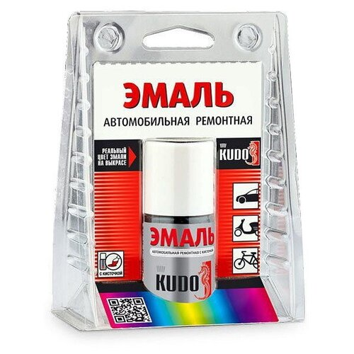 KUDO Эмаль автомобильная ремонтная с кисточкой (ВАЗ) 606 млечный путь 15 мл