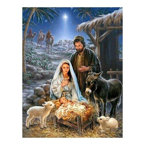 Купить Картина по номерам Рождество Христово, 40x50 см. Цветной, Картины по номерам и контурам