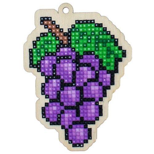 Купить Алмазная вышивка на дереве Подвеска «Виноград», 7x9, 7 см, Гранни Wood, Алмазная мозаика