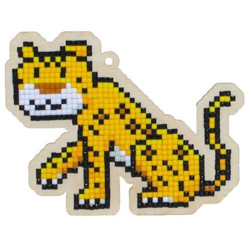 Купить Алмазная вышивка на дереве Подвеска «Леопард», 11, 3x8, 8 см, Гранни Wood, Алмазная мозаика