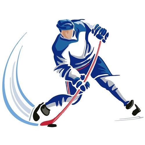 Купить Картина по номерам Хоккеист Минимализм, 80 х 100 см, Красиво Красим, Картины по номерам и контурам