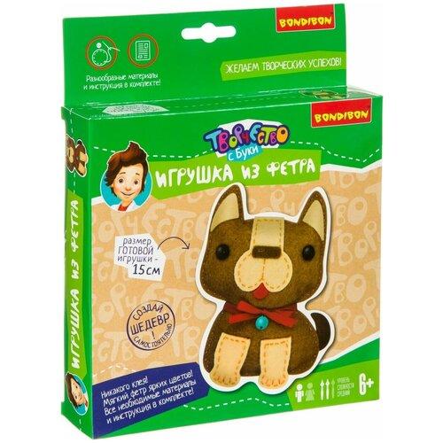 Купить BONDIBON Набор для шитья игрушки из фетра Собачка (ВВ3807), Изготовление кукол и игрушек