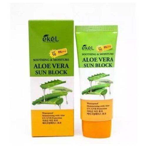 Купить Ekel Крем для лица и тела солнцезащитный с экстрактом алоэ - Aloe vera sun block SPF 50/PA+++, 70мл