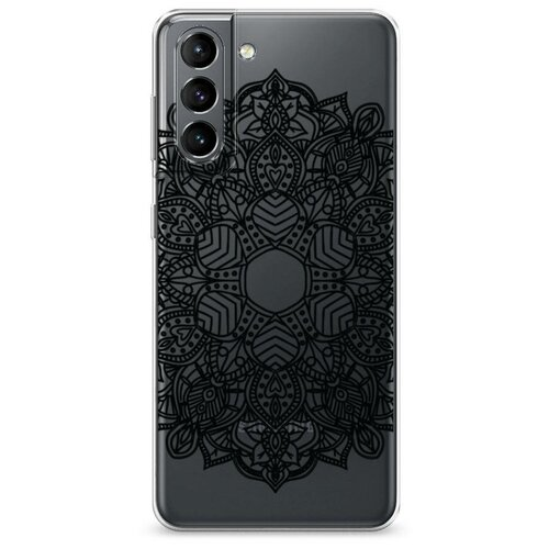 Чехол Силиконовый Samsung Galaxy S21 Восточное солнце черное