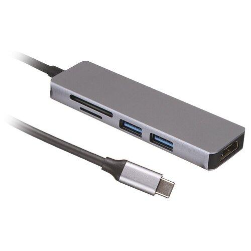 Хаб USB Palmexx 5в1 USB-C - HDMI+2xUSB 3.0+CR PX/HUB-005 недорого