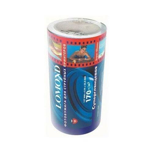 Фото - LOMOND Бумага Lomond рулон 170г/кв.м, Glossy, 127mm*8m, [1101104] lomond 2020345