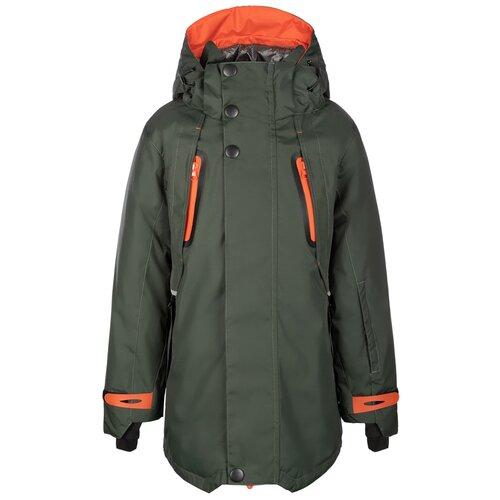 Купить Куртка Oldos Оуэн размер 122, хаки/рыжий, Куртки и пуховики